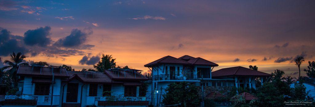 Wonderful sunset at Navinna, Sri Lanka